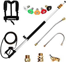 Keyohome Pressure Washer Wand Extension 6 PCS Spray Lance Car Washing Pressure Replacement Lance Power Washer Elbow Rod Water Pumps Kit 1//4/'/' Thread Quick Connect Pole with Anti-Leaked Ring