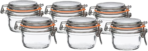 Le Parfait French Super Terrine Wide Mouth Jar - 125 Grams with 70 mm Gasket (Pack of 6)