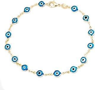 18k Gold Plated Evil Eye Anklet Bracelet
