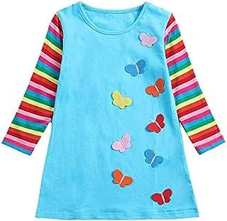 WUSIKY Tutu Kleid Kleinkind Baby Kinder M/ädchen Regenbogen Streifen Schmetterling Party Kleid Kleidung Prinzessin Kleid Tutu Geschenk f/ür Kinder 2019