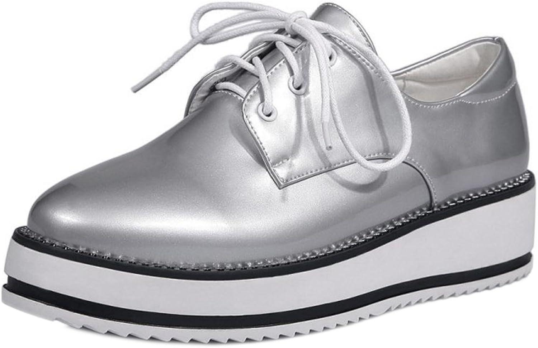TAOFFEN Women's Lace Up Flatform shoes