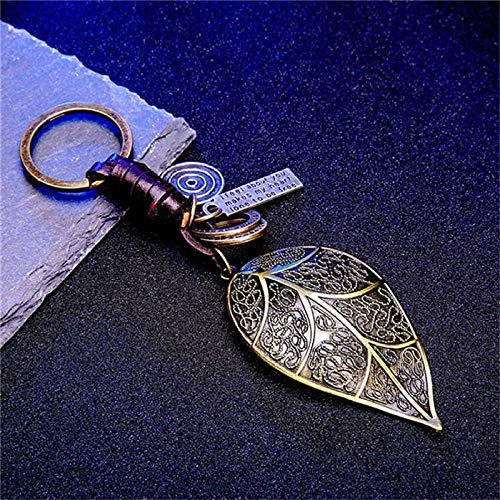 Zbzmm Schlüsselbund Vintage Leder für Männer & Frauen Klassische Hanteln Butterfly Shark Gitarre Flugzeug Blatt Metall Modeschmuck-K020048