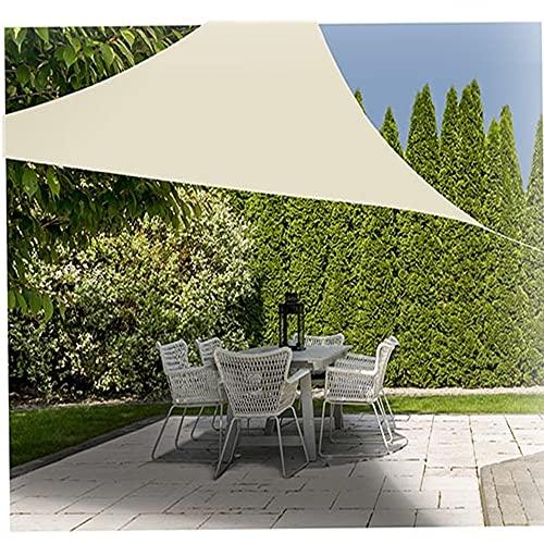 Vetrineinrete Tenda parasole a vela per terrazzo giardino gazebo protezione uv waterproof tendone triangolare 3x3x3 m (Beige) C4