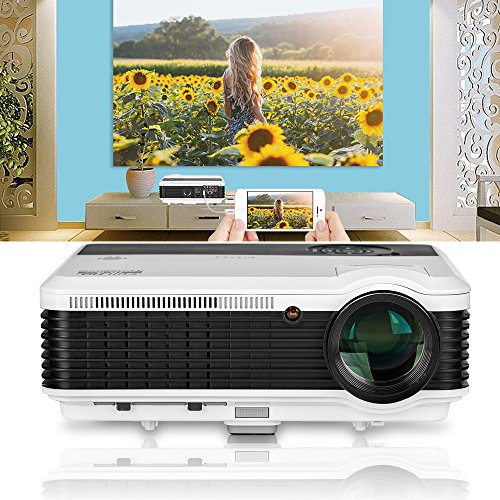 "4600lumens Wxga 1080P Video Projector, LCD Multimedia Movie Projectors Home Cinema Theater Full HD Support Max 200"" LED TV Projector for Gaming,Compatible with Fire Stick PS3/4 Blu-Ray DVD Player PC"