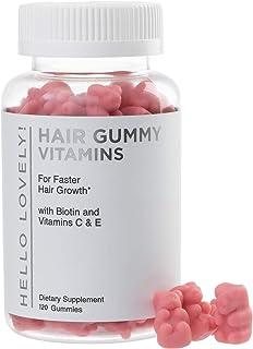 Angel Bear Hair Vitamins Gummies with Biotin 5000 mcg Vitamin E & C Support Hair Growth, Premium Pectin-Based, Non-GMO, fo...