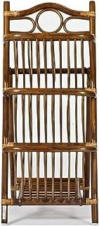 Zyj-Bookshelf Bibliothèque Contemporain Creative rotin Bibliothèque, Simple Moderne Verticale Magazine Rack, Sol Support d...