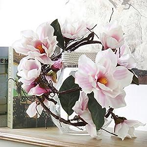 185cm Artificial Magnolia Flower Branch Silk Azaleas Flower Foaming Branches 1pcs