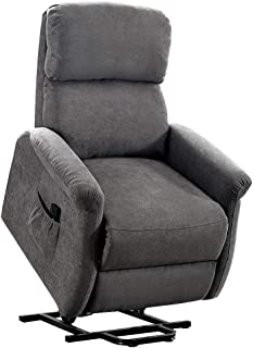 Lift Chairs, Bonzy Home Lift Chair for Elderly, 3 Position & Side Pocket, Soft Fabric Sofa with Remote, Recliner Chair for Home Theater Seating, Living Room & Bed Room (Gray 2)