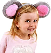 elope Mouse Ears Costume Headband and Tail Kit for Women Gray