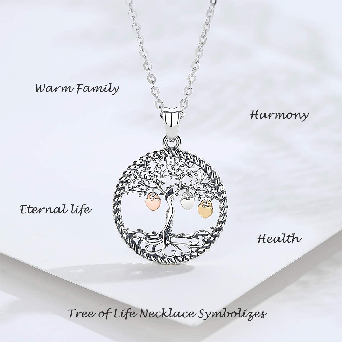 Buy LOOVE Tree of Life Necklace Sterling Silver Family Tree Heart ...