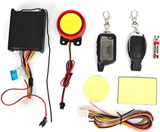 Motorcycle Alarm Device,Motorbike Anti-Theft System Scooter Burglary Vibration Remote Control Engine Start Visual 12V