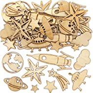 Deep Space Crafts: Small wooden decorations perfect for use on science craft projects and for personalising greeting cards. Crafts for Kids: Let them explore different patterns and shades adding splashes of paint and glitter, drawing with pens or add...