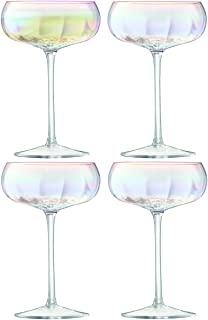 LSA International G1332-11-401 Pearl Champagne Saucer (Set of 4), Mother of Pearl