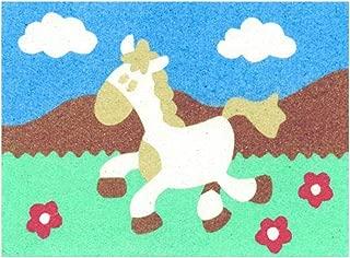 Sandtastik Preschool Craft Peel N Stick Sand Art Board #10 - Galloping Horse