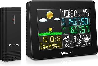 DIGOO DG-TH8868 Wetterstation Feuchtesensor Hygrometer Thermometer Wireless-Farbdisplay Digital USB Outdoor-Barometer Wett...
