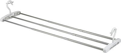 レック 伸縮 竿掛け バスタオルハンガー (最大干し幅75cm) ステンレス製 物干し W00036