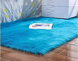 Artificial Wool Carpet Rectangle/Square Garnish Faux Mat Seat Pad Plain Skin Fur Plain Fluffy Area Rugs Washable Home Textile