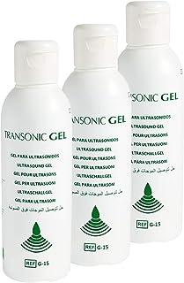 Transonic - Pack de 3 Geles conductores de Ultrasonidos compatible con todos los dispositivos