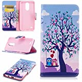 LEMORRY Coque pour LG K8 (2017) / M200N Etui Cuir Silicone TPU Housse Flip Cover Portefeuille...