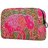 Hermoso elefante pequeño neceser de maquillaje para bolso de viaje neceser cosmético