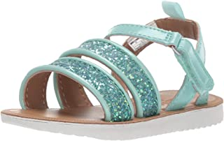 Stella Girl's Strappy Sandal, Turquoise, 10 M US Toddler