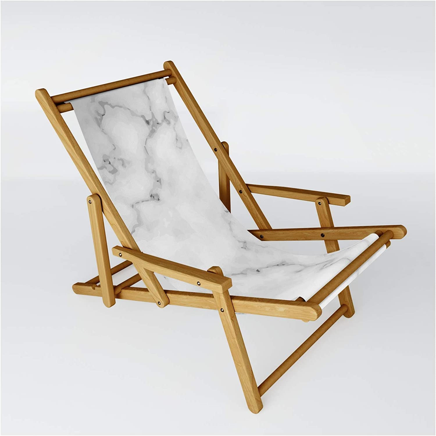 Society6 White Marble Manufacturer OFFicial shop by Artonwear on - Sling Chair Size Cheap super special price One