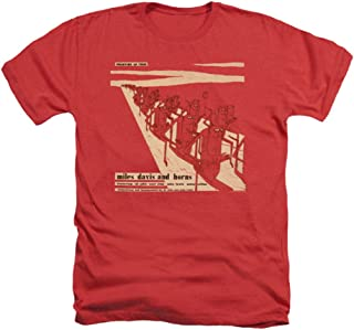Miles Davis and Horns Album Cover Licensed Heather T-Shirt