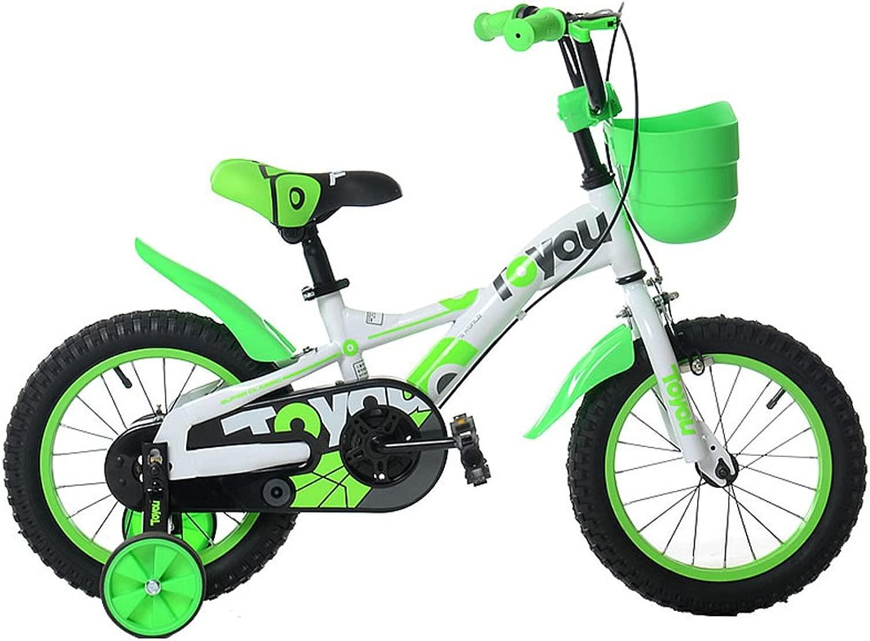 LLL- 子供用 自転車 ユニセックス 子供用 自転車 16インチ ベビーキャリッジトライク トレーニングホイール付き