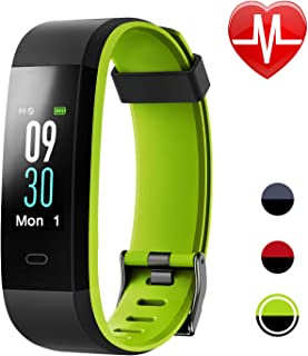 Letsfit Fitness Tracker HR, Color Screen Activity Tracker Watch, Heart Rate Monitor, Sleep Monitor, Step Calorie Counter, IP68 Waterproof Pedometer Watch for Kids Women Men