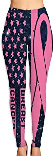 OIIH08-0 Breast Cancer Awareness USA Flag-1 Mens Compression Tights Base Under Layer Cool Dry Running Long Pants for Men
