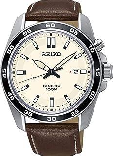 Seiko Reloj Analógico para Hombre de Kinetico con Correa en Cuero SKA787P1