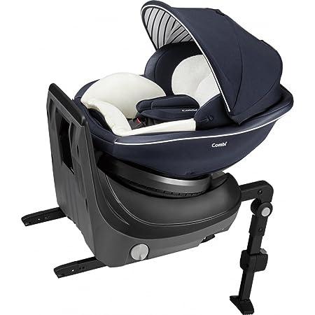 Combi(コンビ) ISOFIX固定 チャイルドシート 新生児から4歳頃まで クルムーヴ スマート ISOFIX エッグショック JJ-600 ネイビー 頭部クッションに1秒タオル搭載