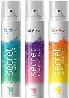 Secret Temptation Te Amo Aqua, Breeze and Pearl Perfume Body Spray Combo for Women, Pack of 3 (120 ml each)