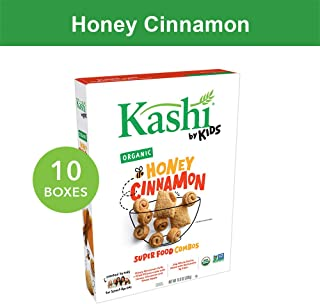 Kashi by Kids Honey Cinnamon Cereal - Organic | Vegetarian | 10.8 Oz Box (Pack of 10)