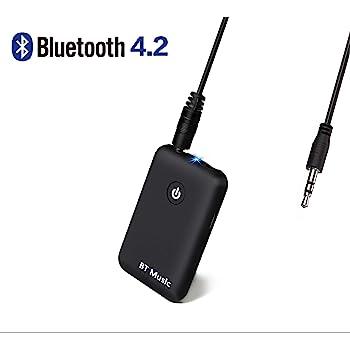 ESYNiC Trasmettitore Bluetooth 2.1 Supporta AD2P Adattatore Wireless Portatile Musica Stereo Con Jack 3.5mm per Dispositivi non-Bluetooth come TV e PC Collegare con Cuffie Altoparlante Bluetooth