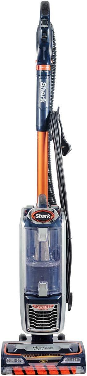 Shark Upright Vacuum Cleaner [NZ801UKT] Powered Lift-Away with Anti Hair Wrap Technology, Pet Hair, Navy & Orange