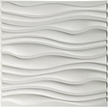 Art3d PVC Wave Board Textured 3D Wall Panels, White, 19.7