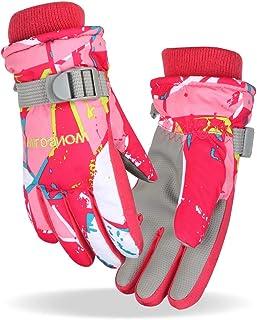 Winter warme Handschuhe Azarxis Kinder Skihandschuhe Wasserdicht und Winddicht Winterhandschuhe f/ür Kinder 6-12 Jahre Alt