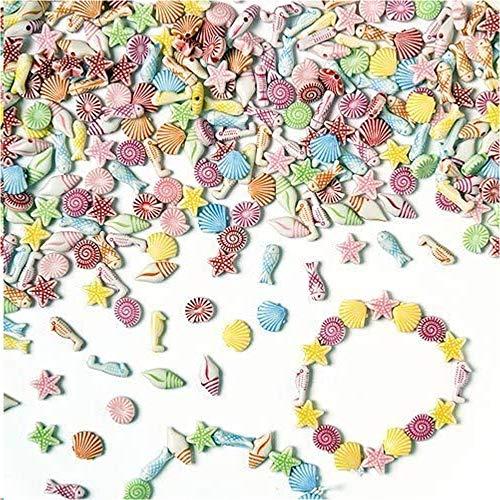 Baker Ross Minicuentas de plástico de motivos marinos (Paquete de 400) Para crear joyas marinas infantiles