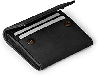 DailyObjects Black Faux Leather Flip Top Card Wallet for Women