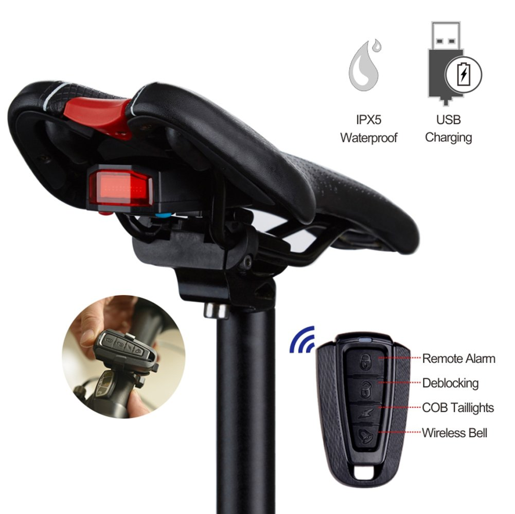 Intelligent Anti Theft Rechargeable Taillights Accessories