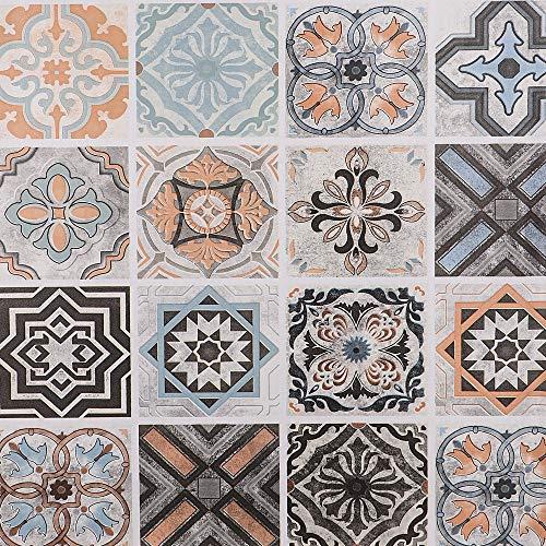 Hode Mosaik Folie Selbstklebende Küchenrückwand Fliesenaufkleber Mosaikfliese Klebefolie Fliesen für Küche Bad PVC Deko Fliesenfolie Kacheldekor 60X300cm