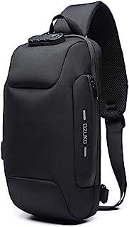 ضد سرقت کیسه شانه کوله پشتی Crossbody کیف ضد آب ضد آب با پورت شارژ USB سبک روز گاه به گاه بسته