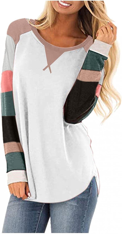 FABIURT Sweatshirt for Women Hoodies,Womens Color Block Tunic Tops for Leggings Long Sleeve Sweaters Pullover Tops