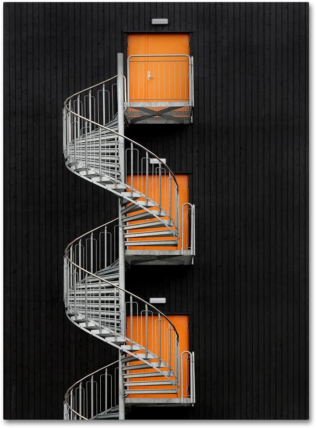 Trademark Fine Art Northernmost Spiral Staircase Hans Wolfgang Hawerkamp, 14x19 Canvas Wall Art
