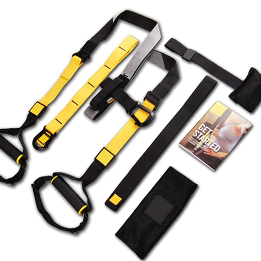 マスタード曖昧な乱闘吊り下げトレーニングベルトP7プルロープジム専用フィットネス機器 (色 : Suspension belt)