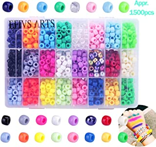 Efivs Arts 1000pcs Multicolor Beads Cube Charms for DIY Bracelets,Necklaces, Key Chains and Kid Jewelry Bead Box Kit Blue EA