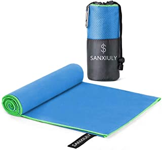 SANXIULY Microfiber Quick Drying Towel for Travel,Camp,Gym,Beach,Swim,Backpacking and More