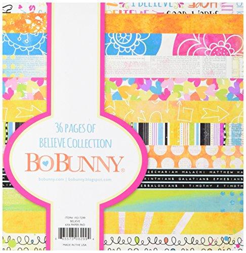 Bo Bunny BoBunny Papier Pad 6x 6-inch-Believe, andere, Mehrfarbig