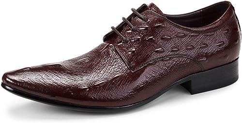 BNMZX Chaussures pour Hommes, modèle de Poisson E Britannique, Britannique, Dentelle, Chaussures de Travail Formelles Oxford, Semelles intérieures en Cuir  produit de qualité